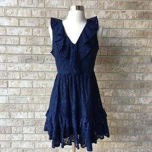NWT Francesca's Navy Blue Sleeveless Dress Size S